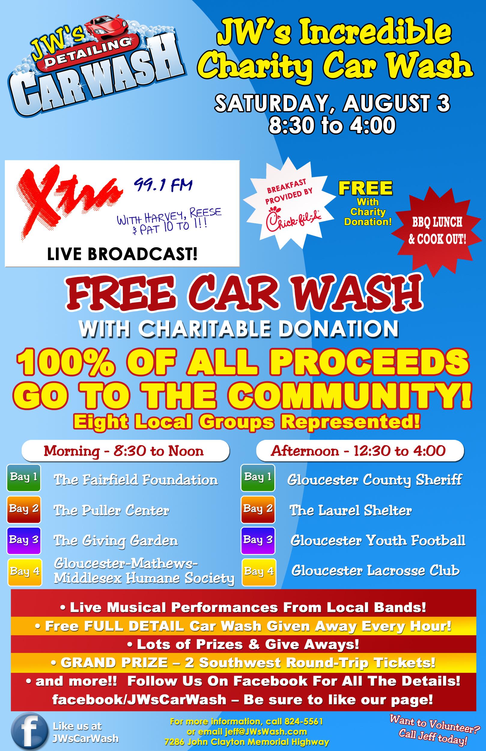 Car Wash Bake Sale