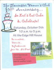Celebrating the history of the Gloucester Woman's Club and Edge Hill House