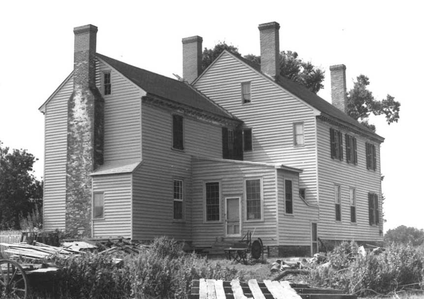 View of the back of the house in 1968 (Courtesy VDHR)